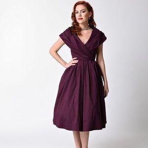 Lindy Bop Purple Midi Dress